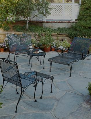 wrought iron patio set briarwood collection QZNPQLV