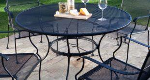 wrought iron patio set retail price: $999.00 WZJWNFO