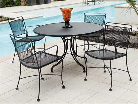 wrought iron patio set wrought iron dining sets FGFZIHW