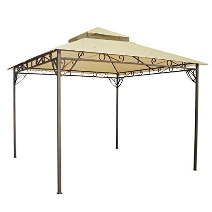 yescom 10.6u0027x10.6u0027 outdoor waterproof gazebo canopy top replacement
