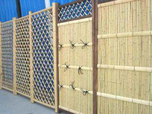 zy179 bamboo garden fence, garden fence panels, backyard