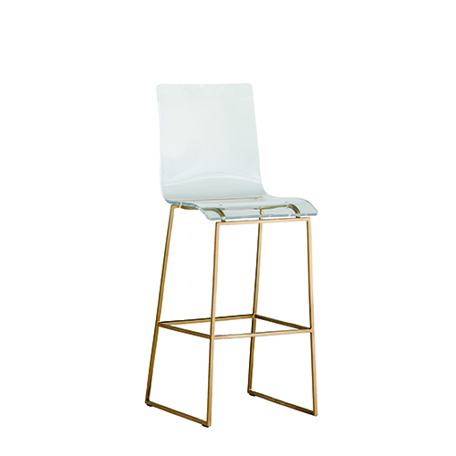 Gabby Home King Antique Gold And Clear Acrylic Bar Stool Sch 151345