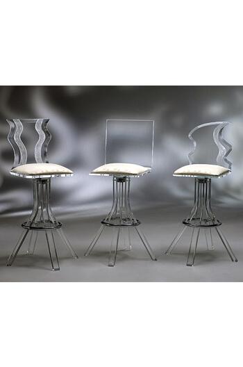 Glacier: Clear & Modern Acrylic Swivel Bar/Counter Stool - Free