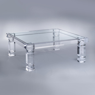 Lucite/Acrylic Glass Coffee and Cocktail Tables by Plexi-Craft