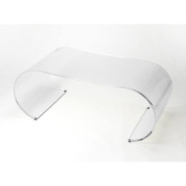 Shop Butler Milan Arched Acrylic Cocktail Table - On Sale - Free