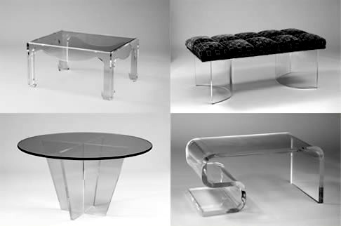 Acrylic Furniture Tables Chairs Hand Made By Muniz Plastics With