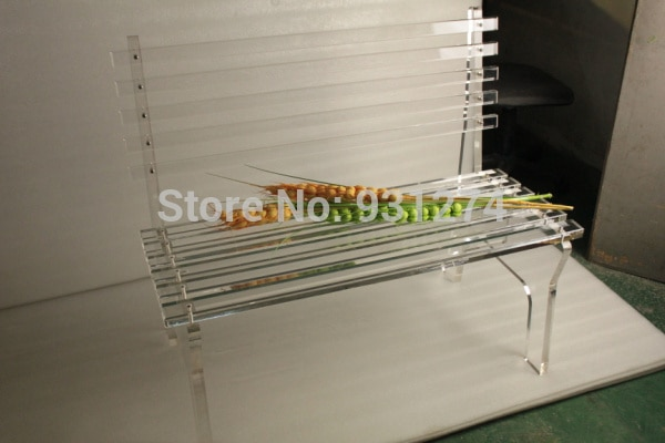 Modern Luxury Acrylic Park Patio Bench, Lucite Folding Garden Chair