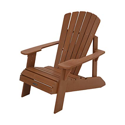 Lifetime Faux Wood Adirondack Chair, Brown - 60064
