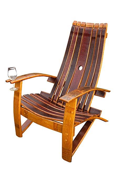 Amazon.com : Wine Barrel Adirondack Chair : Garden & Outdoor