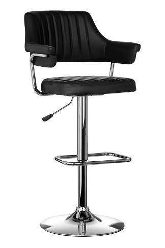kitchen, bar, breakfast bar stools with arm rests- chrome, swivel