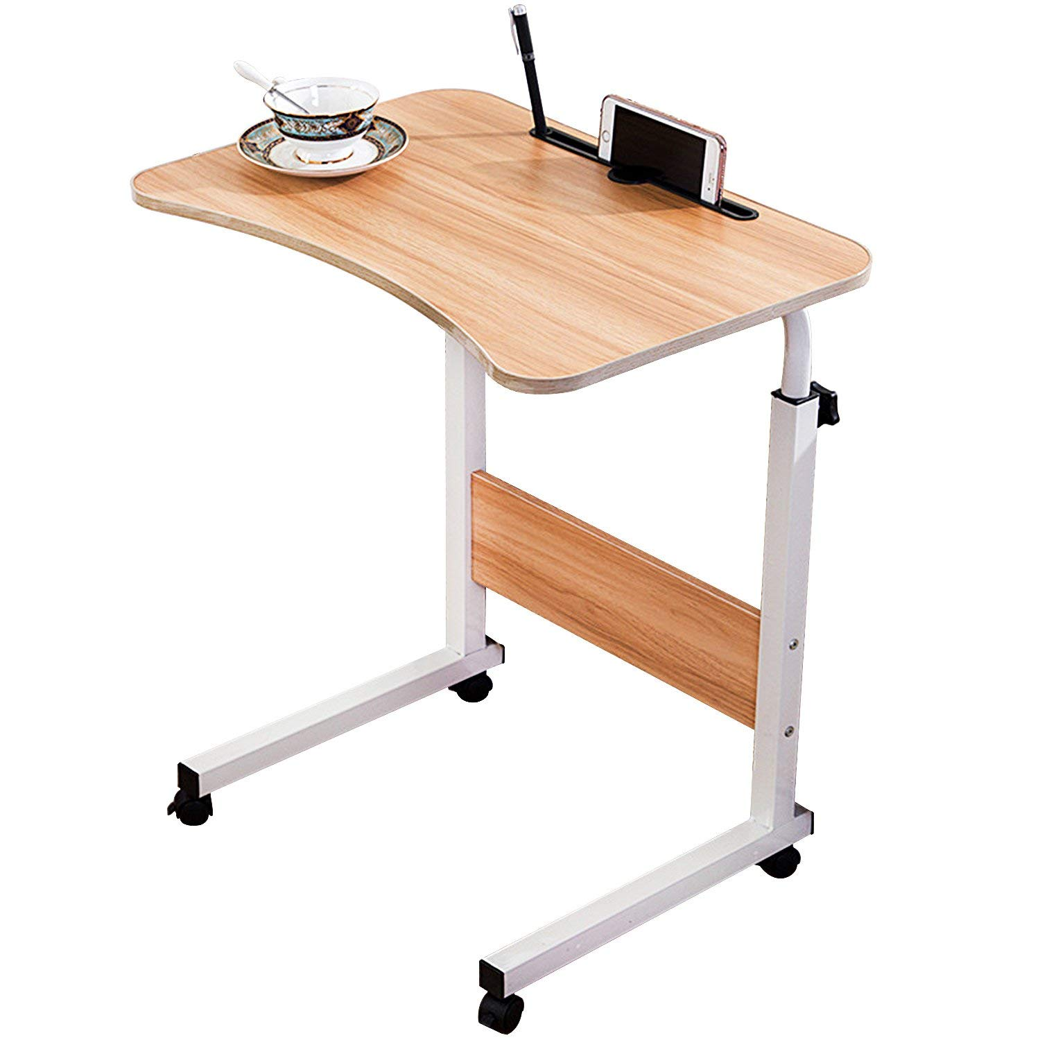 DL furniture - Adjustable Desk Body Curve Edge Design With Phone
