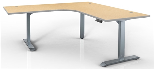 HAT Electric Height Adjustable Table - 120 Degree Corner Sit-to