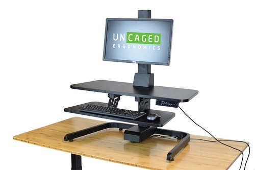 Electric Standing Desk Converter motorized sit stand up desktop