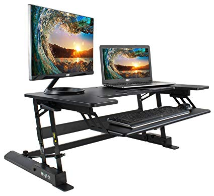Amazon.com : VIVO Height Adjustable Standing Desk Sit to Stand Gas