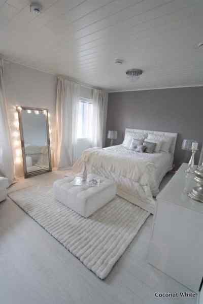 Light & Bright: A Gallery of All White Bedrooms | For the Home