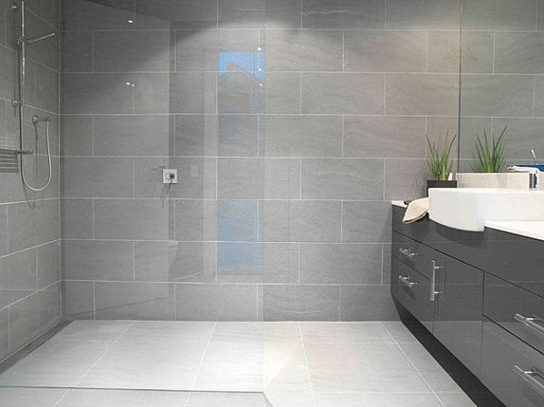 Amazing Bathroom Decorating Ideas Grey Tile Shower Backsplash