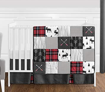 Amazon.com : Grey, Black and Red Woodland Plaid and Arrow Rustic