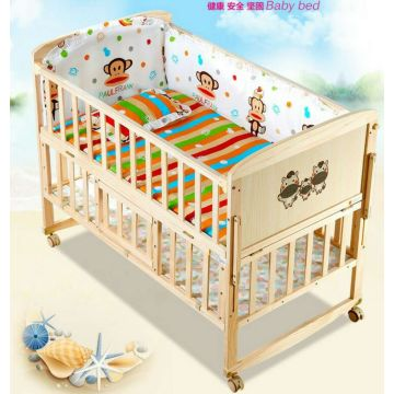 Good quality baby cot bed / baby wooden swing bed /floding wooden