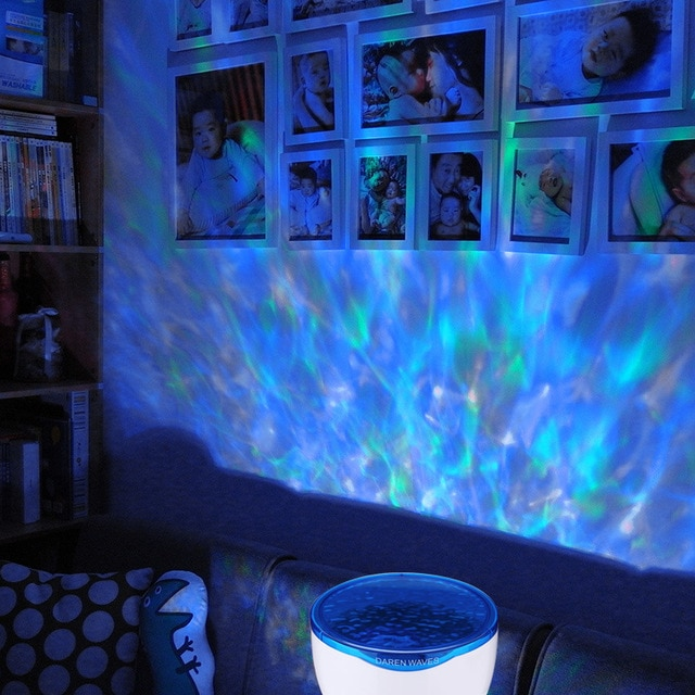 LED Night Light Starry Sky Ocean Wave Projector with Music MP3