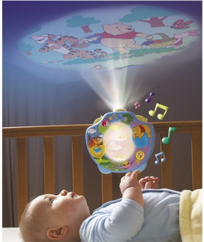 Tomy Winnie the Pooh Night Light Music Projectors Cot Crib Mobiles