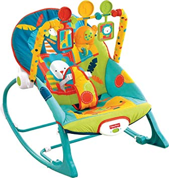 Amazon.com : Fisher-Price Infant-to-Toddler Rocker, Dark Safari