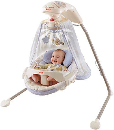 Amazon.com : Fisher-Price Papasan Cradle Swing, Starlight