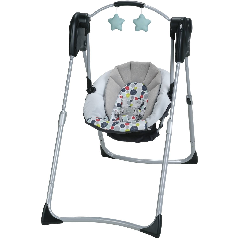 Graco Slim Spaces Compact Baby Swing, Etcher - Walmart.com