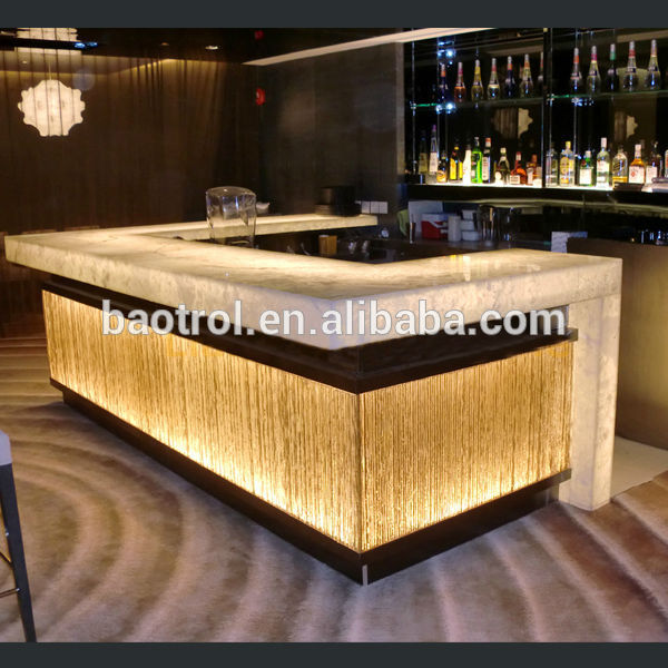 Modern Restaurant Bar Counter Design,Illuminated Led Bar Counter