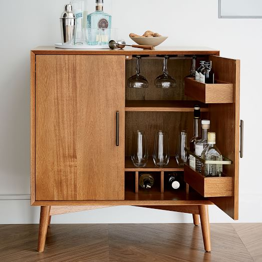 Mid-Century Bar Cabinet - Small | west elm