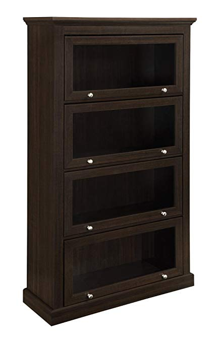Amazon.com: Ameriwood Home Alton Alley 4 Shelf Barrister Bookcase