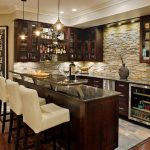 Popularity of the basement bar   countertop ideas