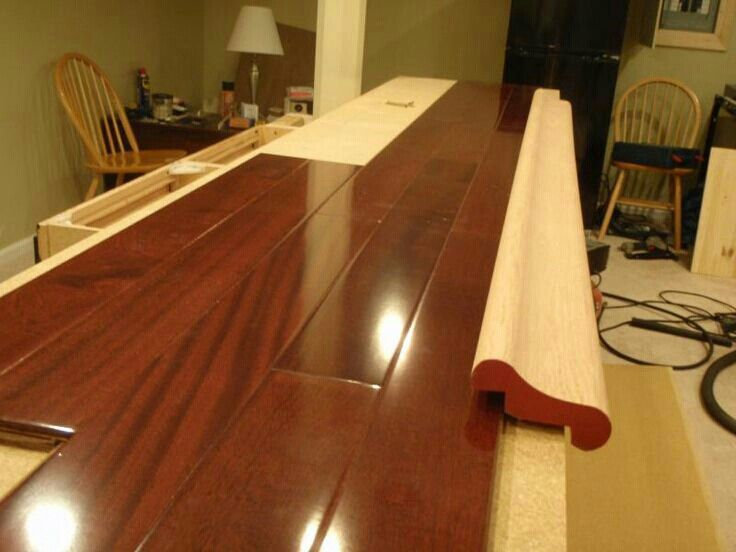 bar top edge | For the Home | Bar countertops, Man cave bar top