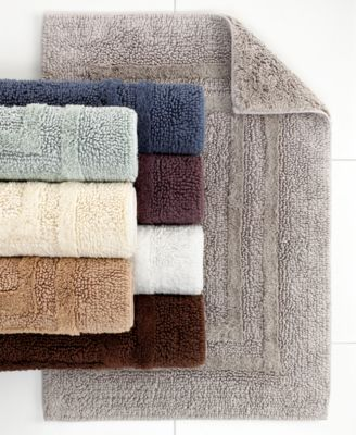 Hotel Collection Cotton Reversible Bath Rugs, 100% Cotton, Created