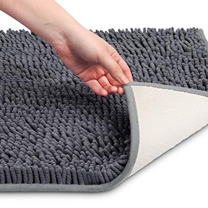 Amazon.com: Vdomus Soft Microfiber Shag Bath Rug, Extra Absorbent