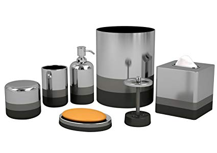 Amazon.com: Nu Steel Triune Bathroom Accessories Set ,7-Piece: Home