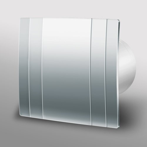 Designer Metal Bathroom Extractor Fan 100mm 4