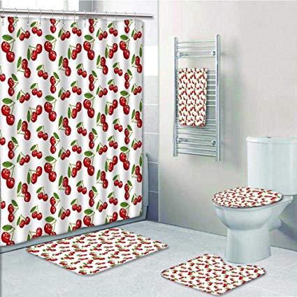 Amazon.com: 5-piece Bathroom Set-Includes Shower Curtain Liner