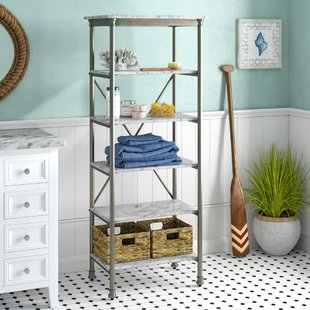 Free Standing Bathroom Shelving You'll Love   Wayfair