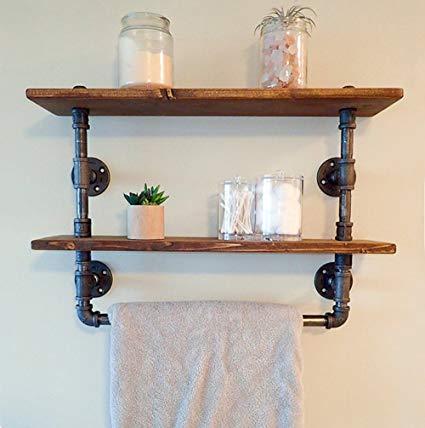 Amazon.com: FOF Industrial Retro Wall Mount Pipe Bathroom Shelf