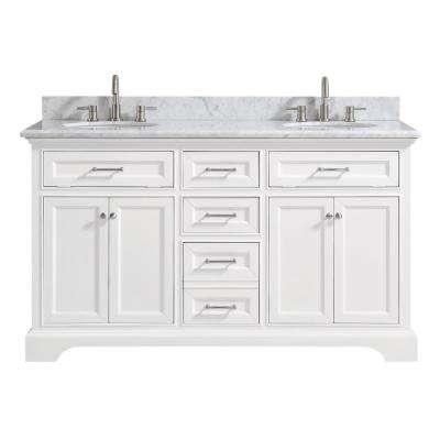 White - Marble - Bathroom Vanities - Bath - The Home Depot