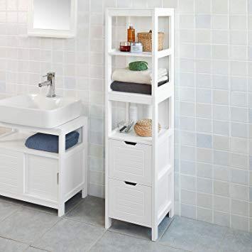 Amazon.com: Haotian FRG126-W, White Floor Standing Tall Bathroom