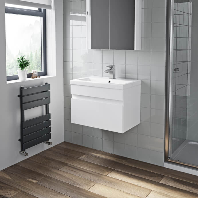 White Bathroom Vanity Units - Plumbworld
