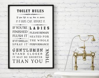 Bathroom wall art | Etsy