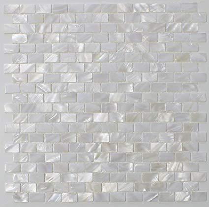Amazon.com: White Mother of Pearl Tile Seashell Tile Kitchen