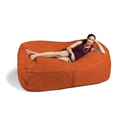 Amazon.com: Jaxx 7 ft Giant Bean Bag Sofa, Mandarin: Kitchen & Dining