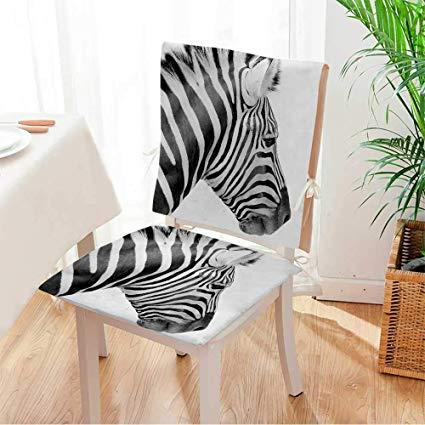 Amazon.com: Miki home Beautiful Chair Cushion Black and White Zebra