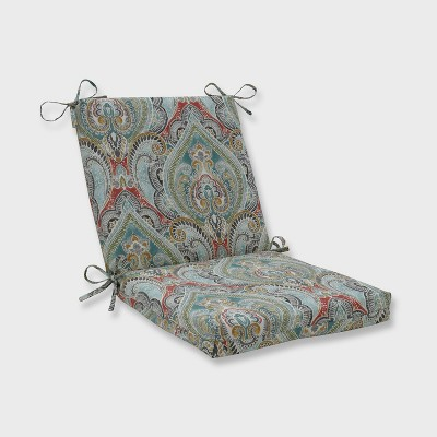 Pretty Witty Reef Squared Corners Outdoor Chair Cushion Blue - Pillow  Perfect