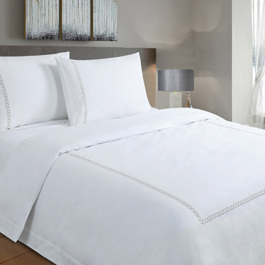 Bed Sheets | GREY Francis Brennan the Collection Grey Braid Detail