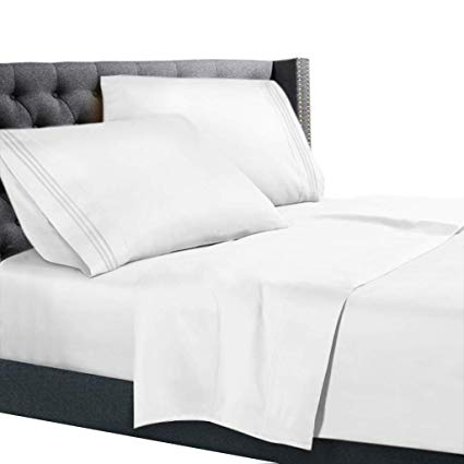 Amazon.com: Nestl Bedding 4 Piece Sheet Set - 1800 Deep Pocket Bed