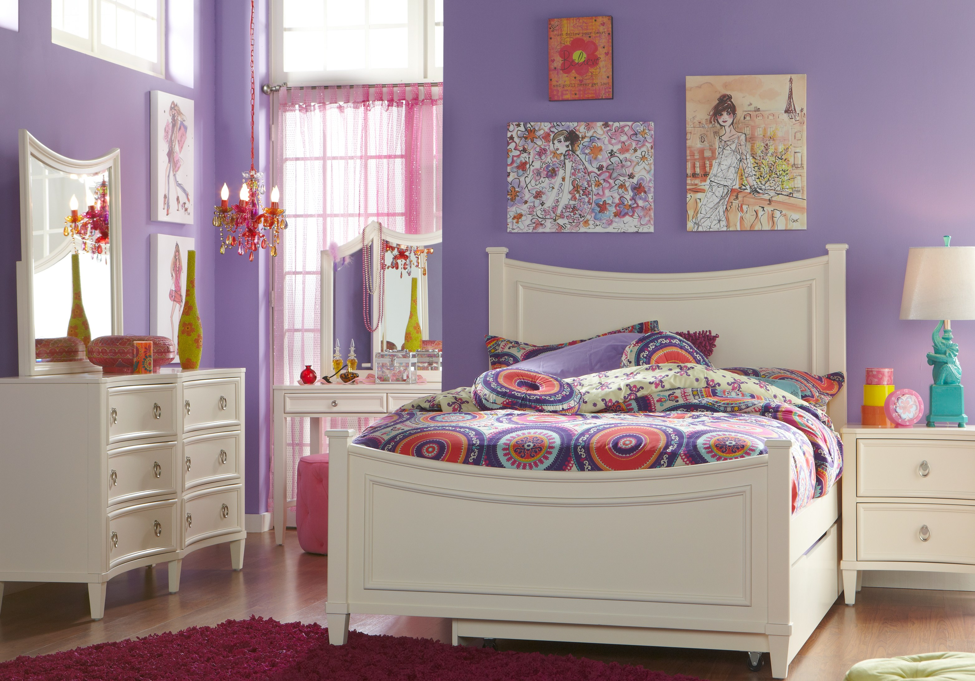 Full Size Teenage Bedroom Sets: 4, 5 & 6 piece Suites